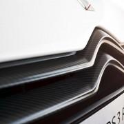 Calandre de Citroën DS3 Racing Blanc Banquise et Gris Moondust