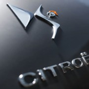 Logo de Citroën DS3 Racing Noir Obsidien et Orange