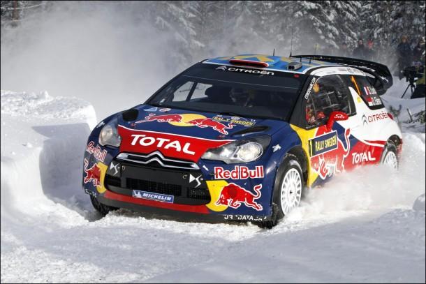 Citroën DS3 WRC sur un terrain neige