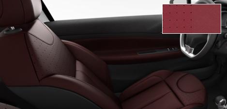 Intérieur Citroën DS3 Cuir perforé Amarante