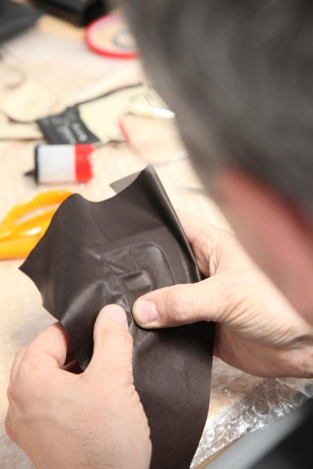 DS5 : Recouvrement de la planche de bord avec du cuir