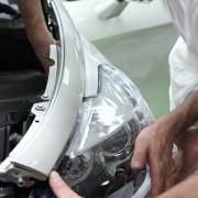 Citroën DS5 White Pearl : installation des projecteurs